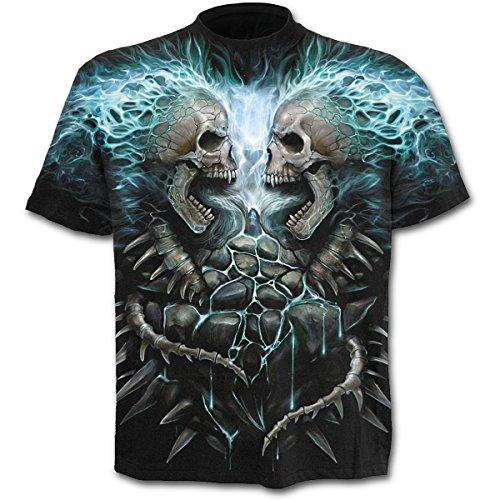 Spiral Direct, Tee-shirt, Noir à motif, Taille L