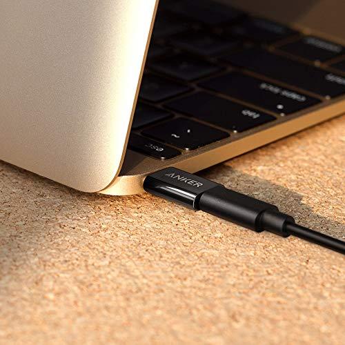 Anker USB-C auf Micro USB Adapter [2 in 1 Pack] verwandelt USB Type-C Input in Micro-USB, 56K Widerstand für MacBook Pro, MacBook (2015), ChromeBook Pixel, Nexus 5X 6P, OnePlus 2 und weitere (Schwarz)