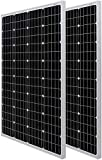 HQST 200 Watt 12 Volt Monocrystalline Solar Panel with Solar Connectors High Efficiency Module PV Power for Battery Charging Boat, Caravan, RV and Any Other Off Grid Applications