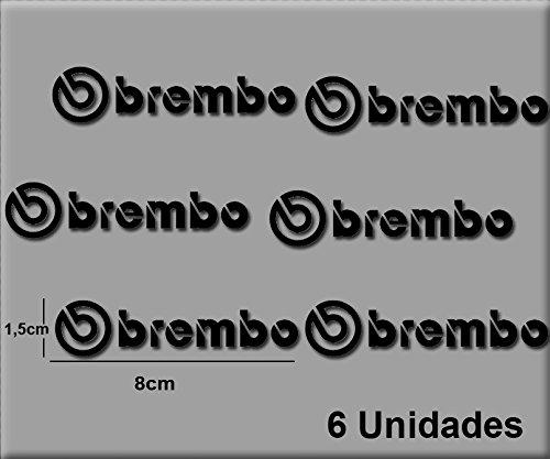 Ecoshirt SY-QUZJ-NNLJ Sticker Brembo R47 Aufkleber Decals Autokollants Desivi, schwarz