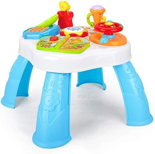 AosyGFR Frühen Bildungs-Puzzle Studie Tabelle Baby Spielzeug Multifunktions Licht Musik Spieltisch Spieltisch Baby Spielzeug Tisch