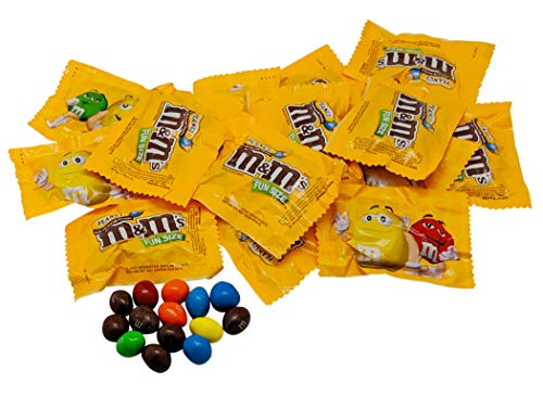 Milk Chocolate Peanut M&Ms Fun Sized Individual Bags - 1LB Resealable Stand Up Bag (approx. 23 pieces) - Bulk Milk Chocolate Bulk Filler Candies - Candy for Parties and Holidays