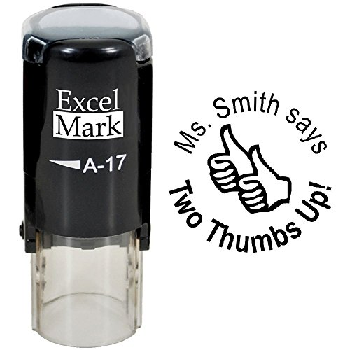 Two Thumbs UP - ExcelMark Custom Round Self-Inking Teacher Stamp