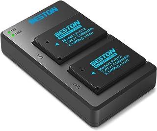 BESTON LP-E12 LPE12 互換 カメラ バッテリー 2個 + USB 急速充電器 キット 対応機種 Canon SX70 HS Rebel SL1 EOS-M EOS M2 EOS M10 EOS M50 EOS M100 カメラ バッテリー