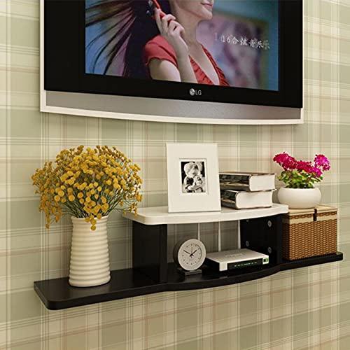 WSNBB Estante Flotante para TV, Consola Multimedia Montada En La Pared con Estante para Componentes De Soporte De TV Flotante Rústico Eléctrico, Estante De Almacenamiento DeGabinete De TV