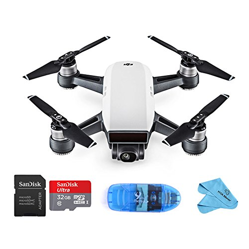 DJI Spark Intelligent Portable Mini Drone,Palm launch Mini Quadcopter, Alpine White