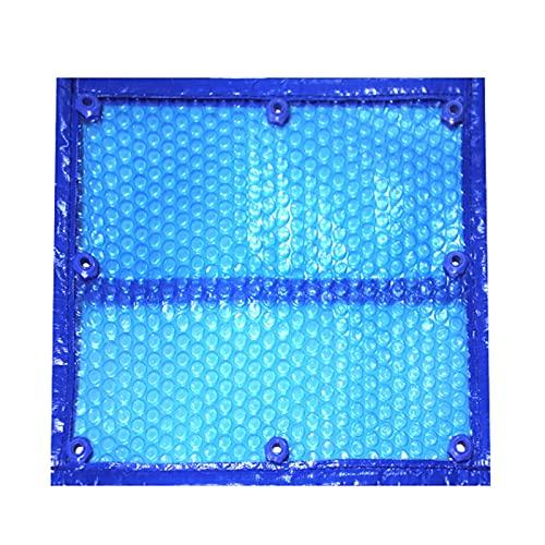 ERLAN Cubierta para Piscina Cubiertas Solares de Piscinas para Piscinas Enterradas, Manta Calefactora de PE con Ojales, Rectangular Cubierta de Piscina para SPA/Jacuzzi, Azul (Size : 2×3m/6.5×9.8ft)