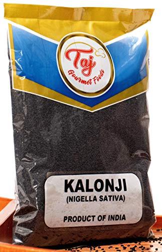 TAJ Premium Indian Kalonji Seeds (Black Cumin Seeds, Nigella, Black Seeds, Caraway), (3.5 Ounce)