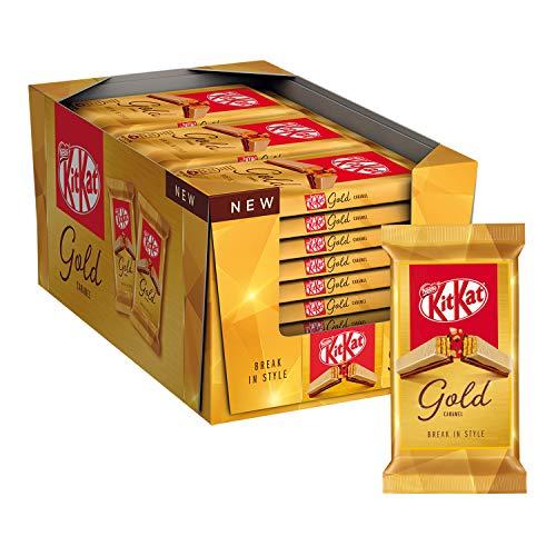 Nestlé KitKat Gold Wafer Croccante Ricoperto di Cioccolato Bianco e Caramello, 27 Snack