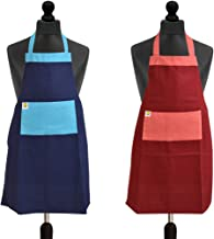 Yellow Weaves™ 100% Cotton 2 Kitchen Apron with Pocket, Color - Multi