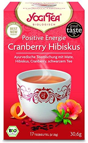 Yogi Tea® Positive Energie I 3er Pack Yogi Tee mit echter Bio-Qualität I leckere ayurvedische Gewürz-Tee-Mischung mit Hibiskus Cranberry Schwarzen Tee uvm. I Tee-Set mit 3x 17 Tee-Beutel