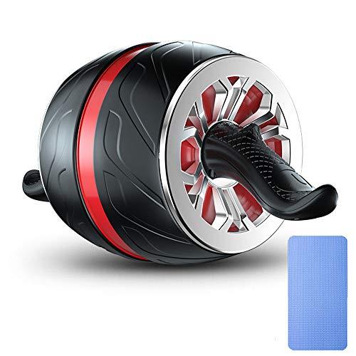 ZMXZMQ Rueda de rodillos Ab, herramienta para ejercicios con rueda Ab, sin vuelco, equipo para ejercicios de gimnasio en casa para ejercicios abdominales, Red + Black, L