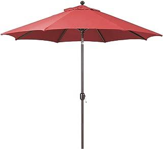 9-Foot Galtech (Model 737) Deluxe Auto-Tilt Umbrella with Antique Bronze Frame and Sunbrella Fabric Henna (Includes Extended Frame Warrantee)