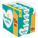 Pampers - Sensitive - Lingettes Bébé Lot de 15 Paquets de 80 (1200 Lingettes)