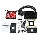 YaeCCC LED Liquid CPU Cooler Water Cooling System Radiator 120mm with Fan for Inter AMD