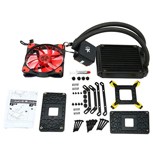 YaeCCC LED Liquid CPU Cooler Water Cooling System Radiator 120mm with Fan for Inter AMD Kansas