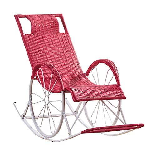 Fauteuil Buiten Rotan Ligstoel Liggend Zero Gravity Fauteuil Ligstoelen Stoel Relax Schommelstoelen Tuin Fauteuil Zonnebank Sling Chair voor Patio Living Room
