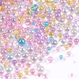 Suhome UV Resin Bubble Beads, 450g Water Droplet Bubble Beads, No Hole Bubble Beads, AB Miniature Beads, Fillers for DIY Shaker Resin Molds Jewelry Making (Mixed Macaron Colors, 0.4mm to 3mm)
