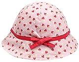 Happy Cherry - Sombrero Pescador Bebés Recién Nacidos Gorra Infantiles de Verano con Estampados Gorro para Playa Fiesta 0-4 Meses - Rojo