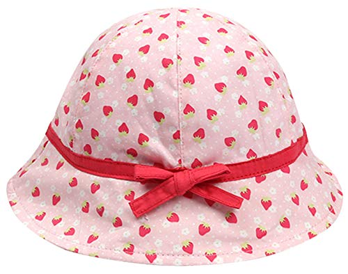 Happy Cherry - Baby Kleinkind Mädchen Sonnenhut Sommerhut Strandhut Hüte Breiten Krempe Uv-Schutz Baumwolle Bucket Hat - 2-4 Jarhe