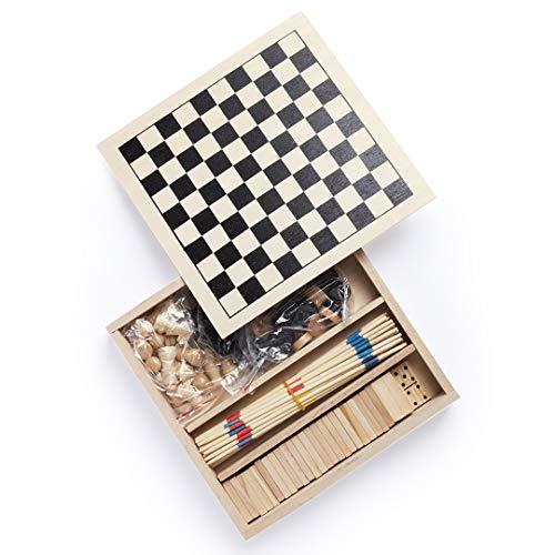 Makito Set Juegos Xigral I Juegos de Mesa I ajedrez I Damas I dominó I Juegos Mesa