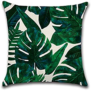 BIGBOBA Tropical Plants Leaves Series Living Room Decorative Cushion Cover Sofa Pillow Case Cushion Cover 45cm * 45cm, d, 45cm*45cm