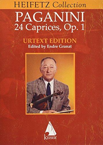 24 Caprices for Violin Solo: Jascha Heifetz Version (Heifetz Collection)