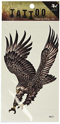 King Horse Wasserdicht Tattoo Sticker Tattoo-Aufkleber personalisierte Herren-Adler Flügel