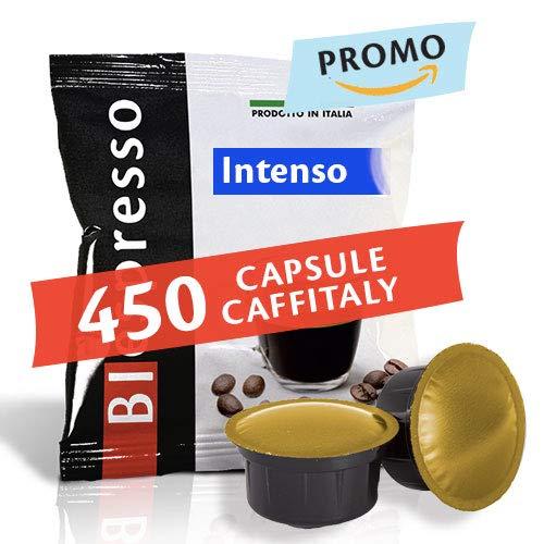 Capsule compatibili Caffitaly, caffè dall'aroma Intenso, 400 pezzi + 50 in omaggio, Prodotto in Italia da Biespresso
