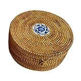 Weidenkorb Einkaufskorb - Handgemachte Weide Handgewebte Stroh Eimer für Haushalt Tee Kuchen