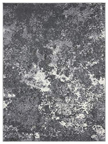 Persian Rugs Beverly Dark Gray 8 x 10 Abstract Modern Area Rug