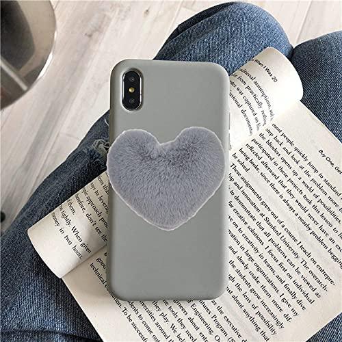 Lujo Lindo corazón Amor Funda de teléfono de Silicona Suave para Samsung A50 A70 M30 S7S8 Plus S9 S10E Note 9 Note 10 Linda Funda de Felpa, 9, para Samsung S10 Lite