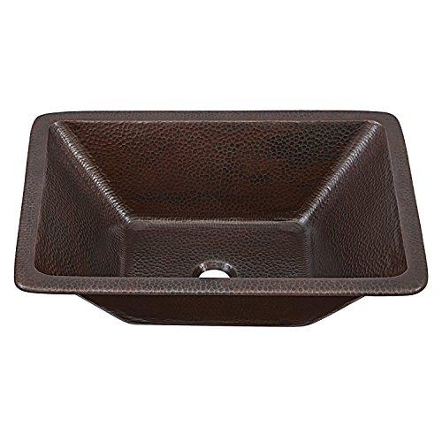 """Sinkology SB205-20AG Hawking Handmade Dual Mount Pure Solid, 20"""", Aged Copper Bath Sink, 20 inch"""