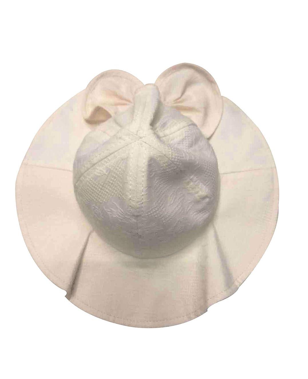 Baby Girl Sun Hat Toddler Kids Summer Wide Brim Beach Hat Cotton Bowknot Cap