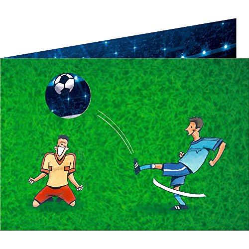 Spiegelburg 14119 Juego de 8 Invitaciones y Sobres para Fiestas Cumpleaños Temáticas Futbol (8+8 uds)