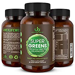 ENJOY WHOLE-BODY SUPPORT from one easy-to-swallow capsule with Ultimate Blend Super Greens. Our plant-based supplement ramps-up your metabolism to promote weight loss and enhance immune system support. 13 SUPER GREENS AND SUPERFOODS have been meticul...