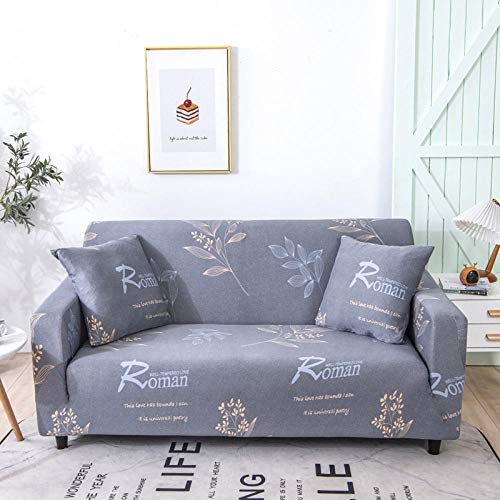 Fsogasilttlv Sofa Cover Stretch Couch Covers 3 Seater,Solid Color Elastic Spandex Slipcovers Couch Cover, Stretch Sofa Towel Corner Sofa Covers For Living Room 190-230cm(1pcs)