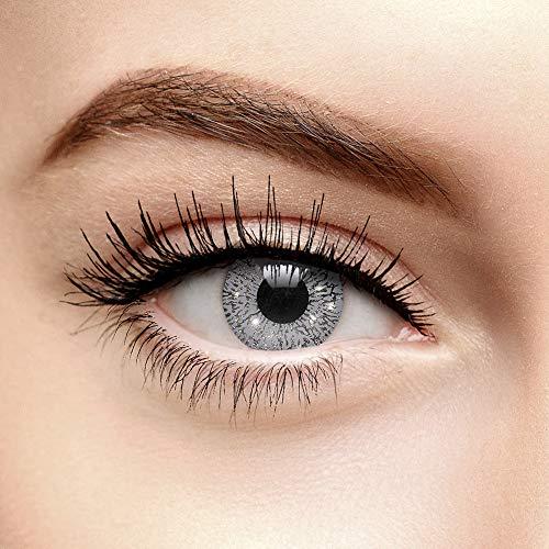 Farbige Kontaktlinsen Ohne Stärke Glimmer Silber (90 Tage)