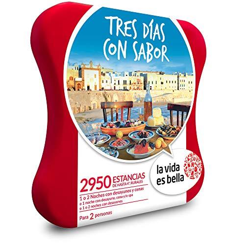La Vida es Bella - Caja Regalo - Tres DÍAS con Sabor - 2950 Casas Rurales y hoteles de hasta 4*