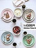 MÄSER 931484 Kitchen Time II Geschirr-Set für 4 Personen, 16-tlg buntes Kombiservice in Pastellfarben mit dezentem Muster, Porzellan - 2