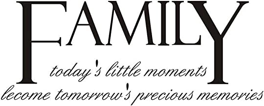 WINOMO Family Todays Little Moments Become Tomorrows Precious Memories Wall Decal Sticker Art Mural Home Décor Quote Lettering Living Room
