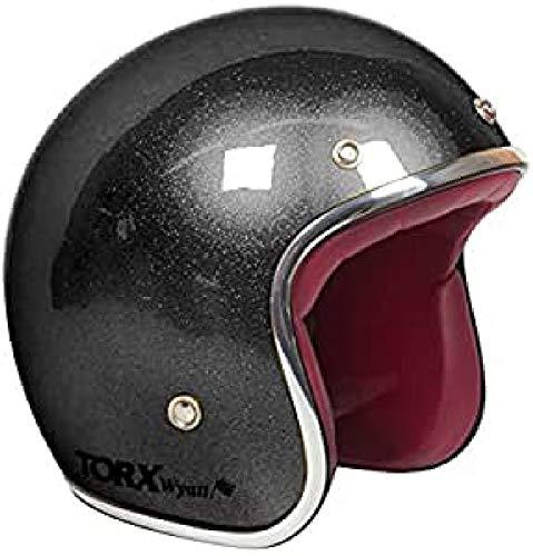 TORX Casco Moto WYATT, SHINY GLITTER BLACK, M