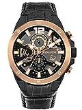 Police PL15711JSBR.61 - Reloj de cuarzo para hombre (acero inoxidable, correa de piel), color negro
