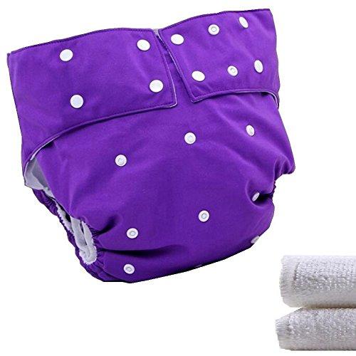 LukLoy–Stoffwindeln für Jugendliche / Erwachsene, mit 2Einsätzen für Inkontinenzeinlagen–doppelte Öffnung, waschbar, verstellbar wiederverwendbar, auslaufsicher