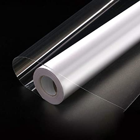 Hode Transparent Papier Adhesif pour Cuisine Mur Porte Meuble Stickers Decoratif Vinyle Rouleau Autocollants Imperméable 40X300cm
