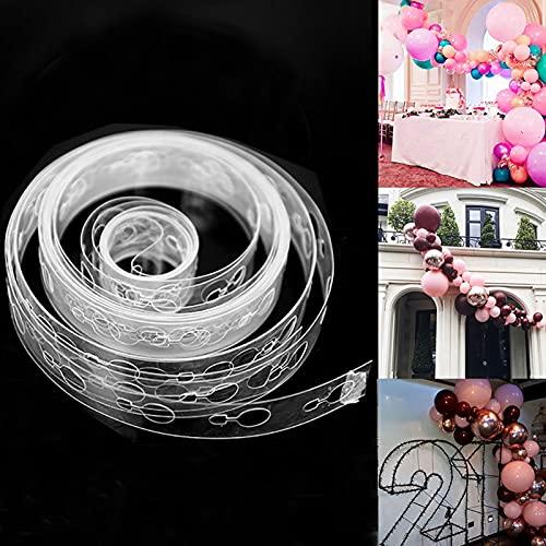 Balloon Decorating Strip Kit for Garland Streamer 3 Rolls 16 Feet Balloon Tape Strips for Birthday Wedding Bridal Shower Baby Shower Graduation Xmas Party Decorations