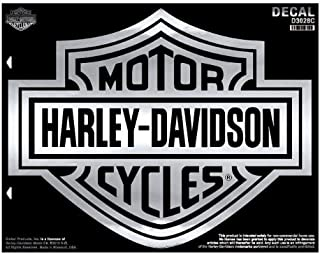 HARLEY-DAVIDSON Bar & Shield X-Large Chrome Decal, X-Large Size D3028C