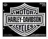 Harley-Davidson Bar & Shield X-Large Chrome Decal, X-Large Size D3028C