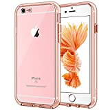 JETech Case for iPhone 6 and iPhone 6s, Shock-Absorption Bumper Cover, Anti-Scratch Clear Back (Rose Gold)