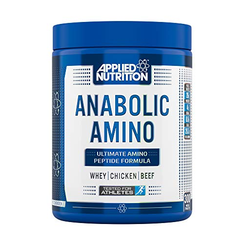 Applied Nutrition Anabolic Amino Mega Tablets, Whey Chicken & Beef Protein Aminos Peptides Formula, Essential Amino Acids EAA to Pre & Post Workout, 300 Tablets BCAA, 675g (20-60 Servings)